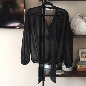 NEW YORK & COA sheer black blouse